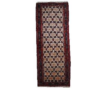 Antique Handmade Persian Hamadan Runner Rug