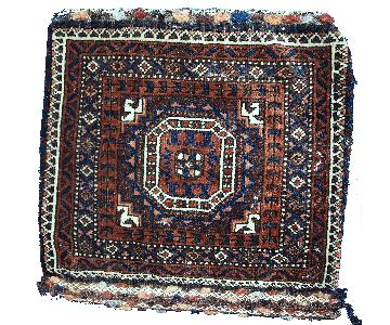 Antique Handmade Afghan Baluch Bag Rug
