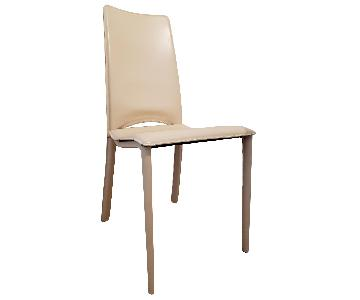 Modani Cream Leather Dining Chairs