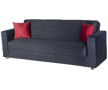 Istikbal/Sunset Tokyo Rainbow Black Convertible Sofa