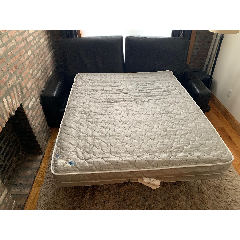 Room & Board Dark Brown Leather Queen Sleeper Sofa