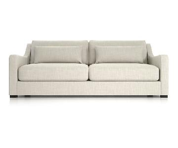 Crate & Barrel Beige Fabric Sofa + 2 Chairs