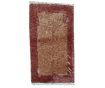 Vintage Handmade Tibetan Khaden Rug