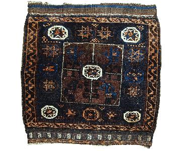 Antique Handmade Afghan Baluch Bag Face Rug