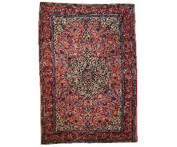 Antique Handmade Persian Lilihan Rug