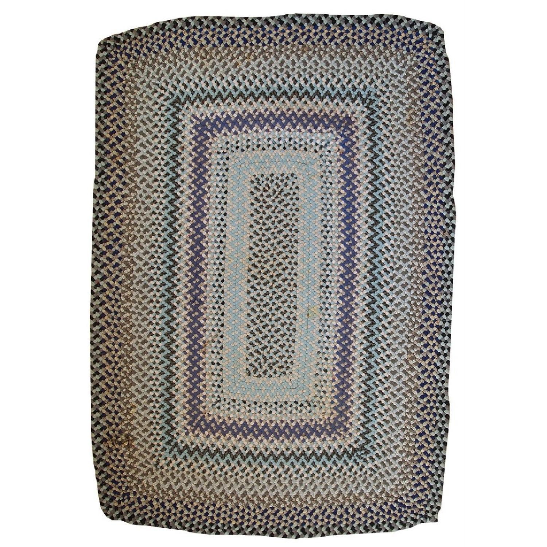 Vintage Handmade American Braided Rug