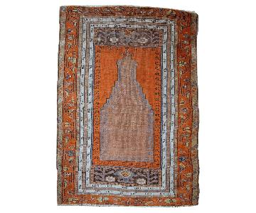 Antique Handmade Turkish Anatolian Prayer Rug