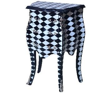 Checkered Side Table/Commode