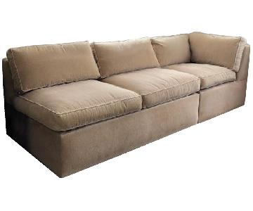 Carlyle Sleeper Sectional Sofa w/ Corner Piece