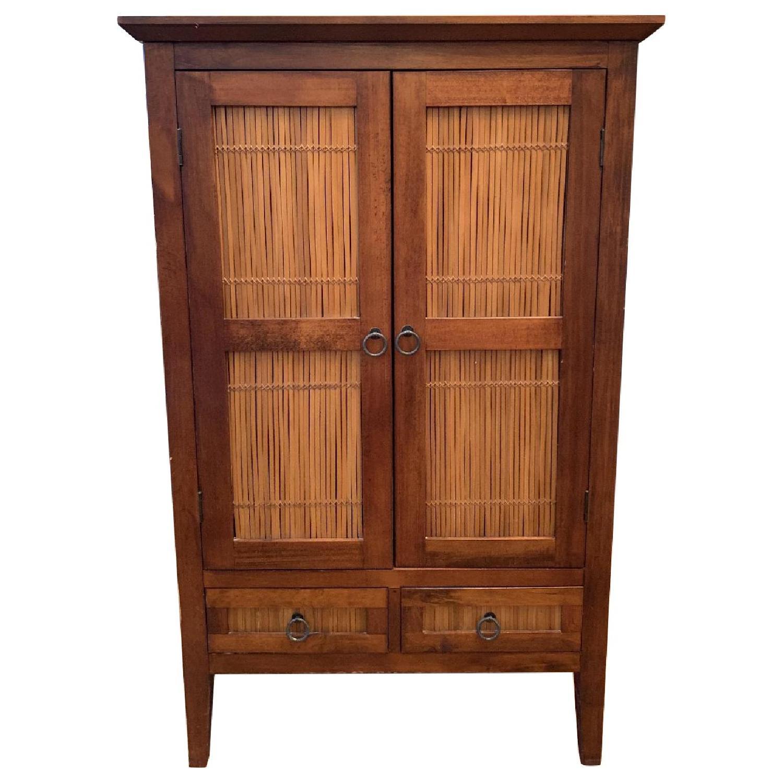 Wood Armoire/Media Storage Cabinet
