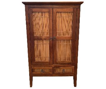 Wood Armoire/Media Storage Cabinet