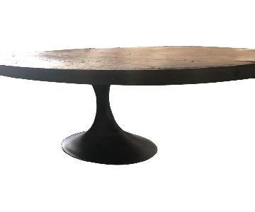 Restoration Hardware Aero Oval Coffee Table