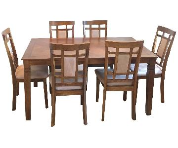 Solid Oak 7-Piece Dining Set