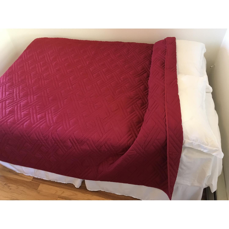 White Metal Full Size Bed Frame