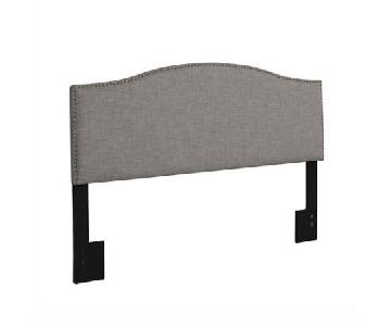 Gray Studded Full Size Headboard