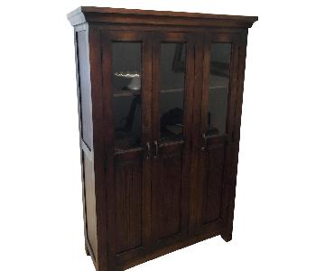 Crate & Barrel Solid Wood China Cabinet