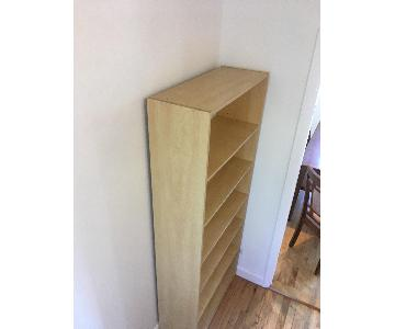6-Shelf Bookcase in Natural Wood Veneer