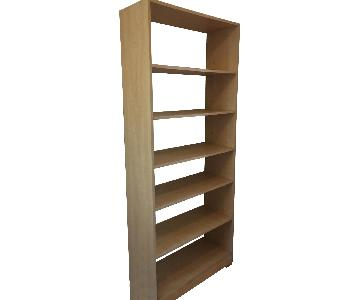 6-Shelf Bookcase in Natural Wood Veneer
