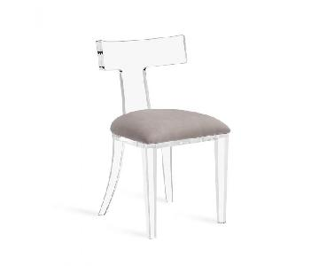 Interlude Tristan Acrylic Chair w/ Velvet Seat