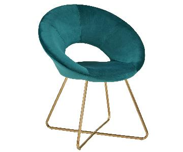 Duhome Turquoise Upholstered Accent Chair