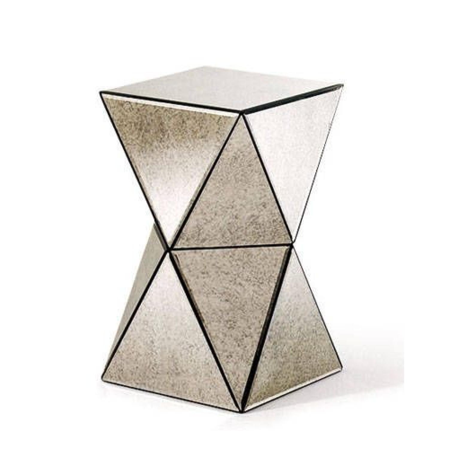 West Elm Faceted Antique Mirrored Side Table