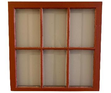 Vintage Red Windowpane Wall Art