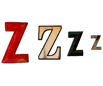 Vintage Film Marquee Letter Zzzz Bedroom Wall Art