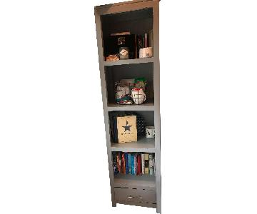 Weathered Grey Bookcase w/ Drawer
