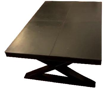 Leather & Metal Coffee Table