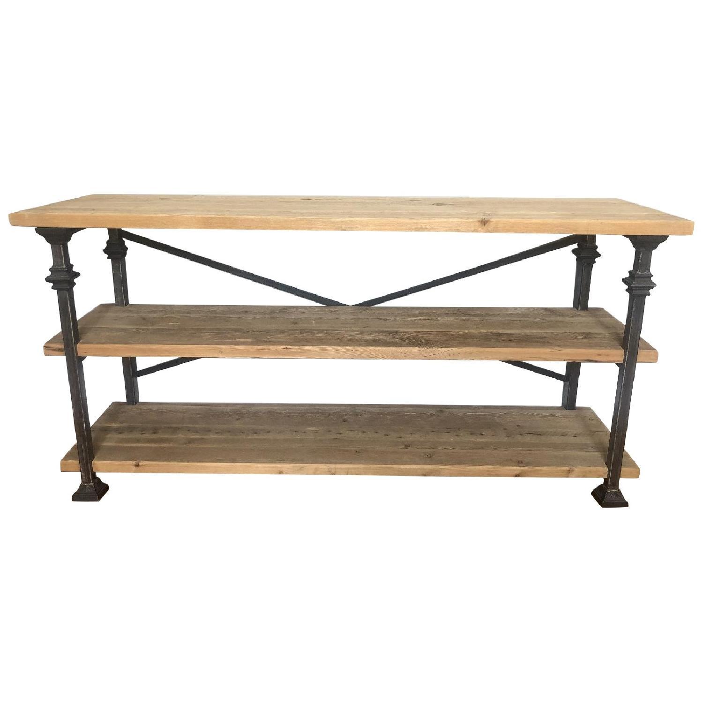 Custom Made Wood & Metal Console Table