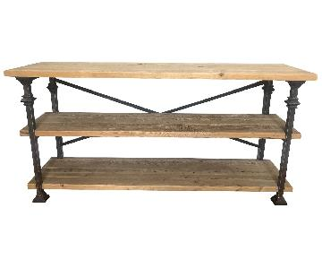 Custom Made Wood & Metal Console Table