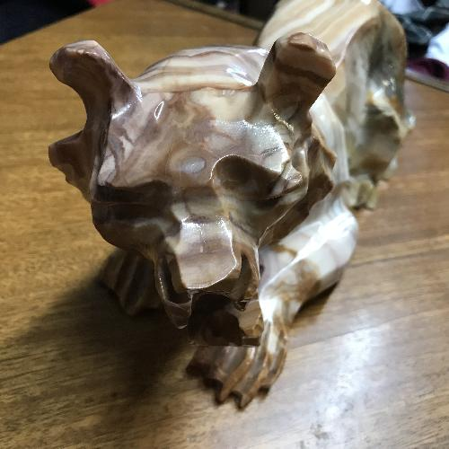 Used Vintage Hand Craved Mexican Onyx Tiger for sale on AptDeco