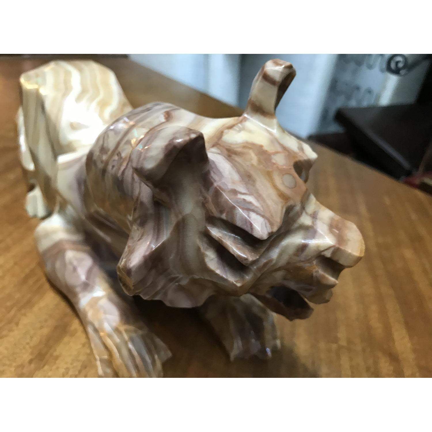 Vintage Hand Craved Mexican Onyx Tiger - image-9