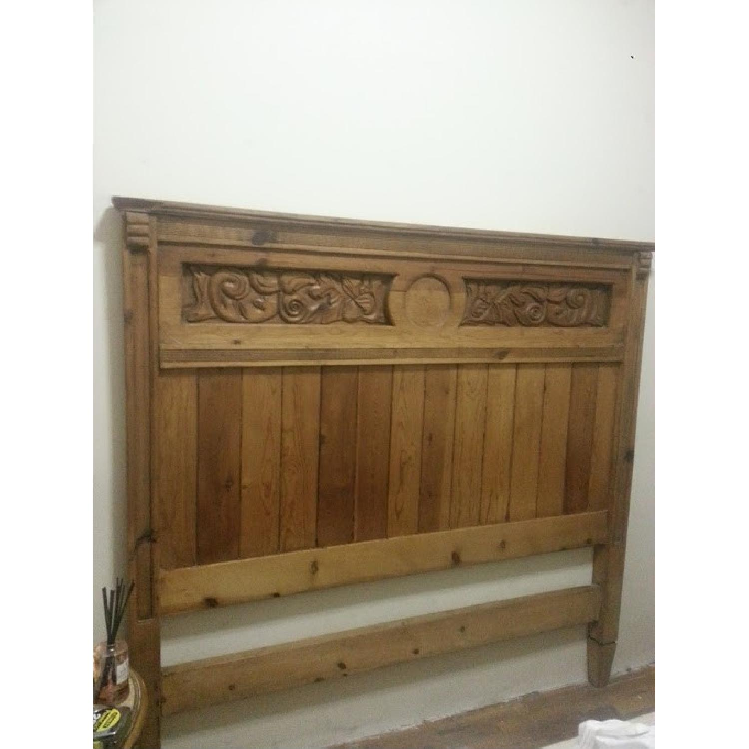 Mexican Carved Wood Headboard