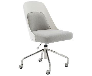 West Elm Bentwood Office Chair in White/Ash Gray