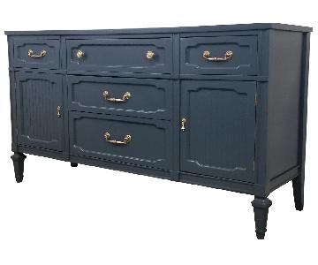 Slate Grey Neoclassical Server/Credenza