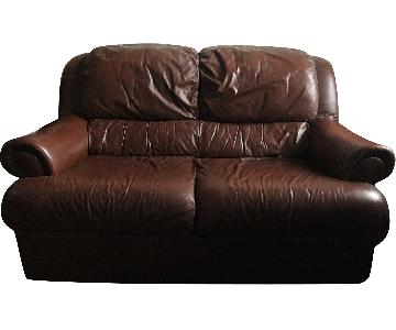 Vintage Leather Loveseat