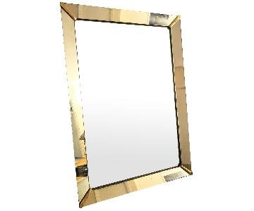 Mirror w/ Gold Corners