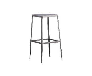 CB2 Flint Steel Bar Stools