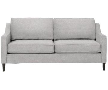 West Elm Paidge Sofa in Chenille Tweed Frost Gray
