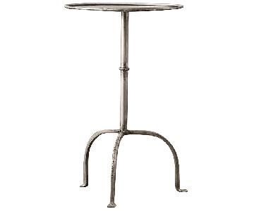 Restoration Hardware Parisian Side Table in Burnished Pewter