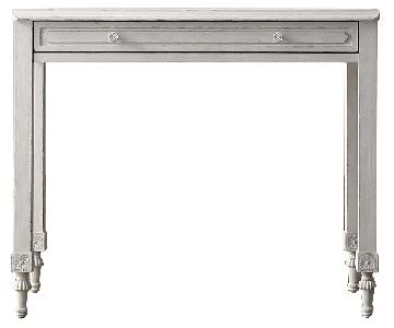 Restoration Hardware Bellina Writing Desk in Vintage Grey