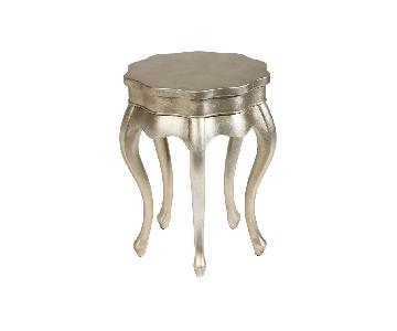 Ethan Allen Silver Leaf Fig Accent Side Table