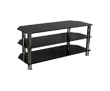 Mount It Glass TV Stand