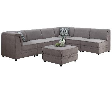 Alcott Hill Hallatrow Reversible Sectional Sofa & Ottoman