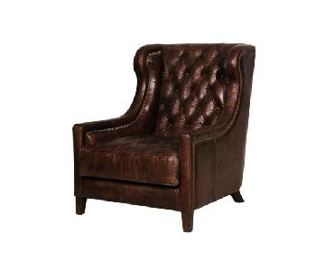 Timothy Oulton Big Horn Vintage Cigar Chair