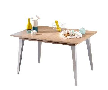 Wrought Studio Wood French Made Extendable Dining Table