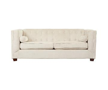 House of Hampton Dahlia Chesterfield Sofa in Almond