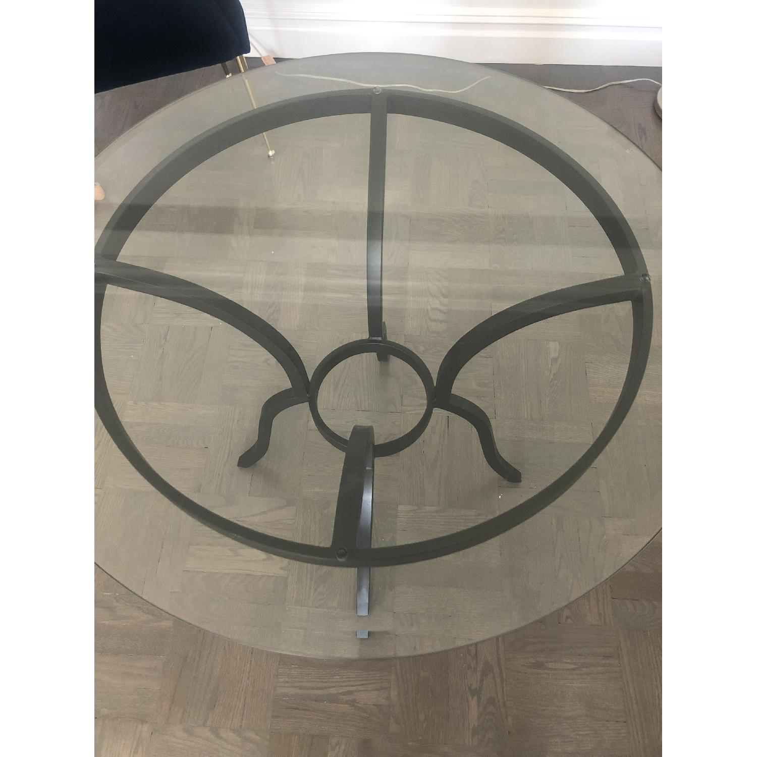 Round Glass Dining Table