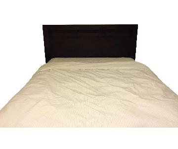 The Furniture Warehouse Queen Size Bed w/ Storage Headboard